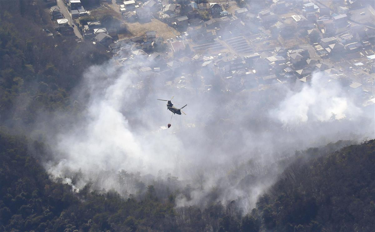足利の山火事「ここまで長引くとは」 近隣住民、早期鎮火願う