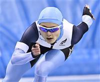 1000メートルで山田が小平に先着 スピード非公式記録会