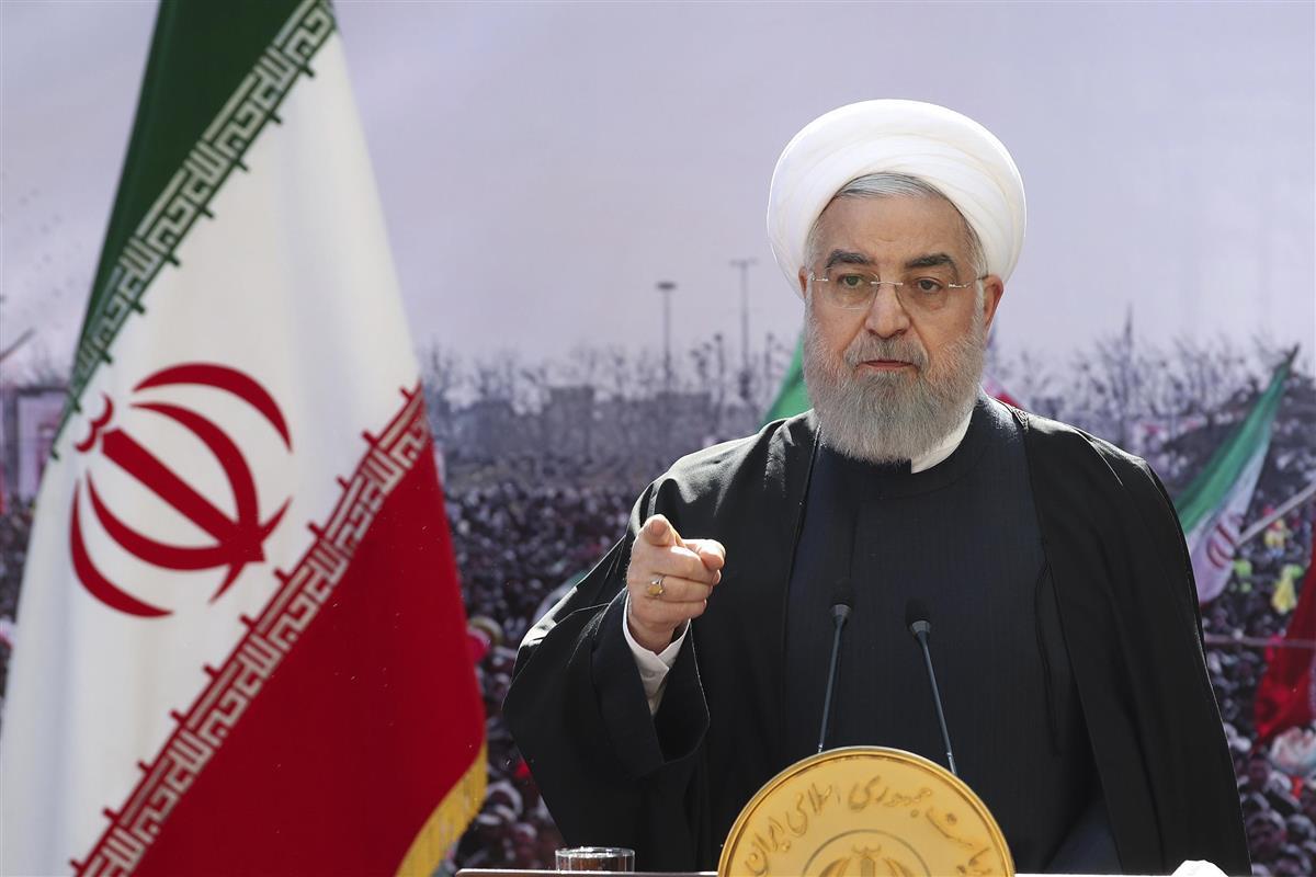 イランのロウハニ大統領(AP)