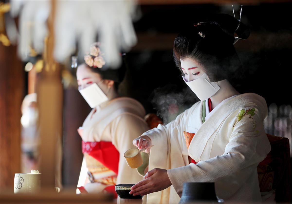 梅花祭 疫病退散願い 京都・北野天満宮