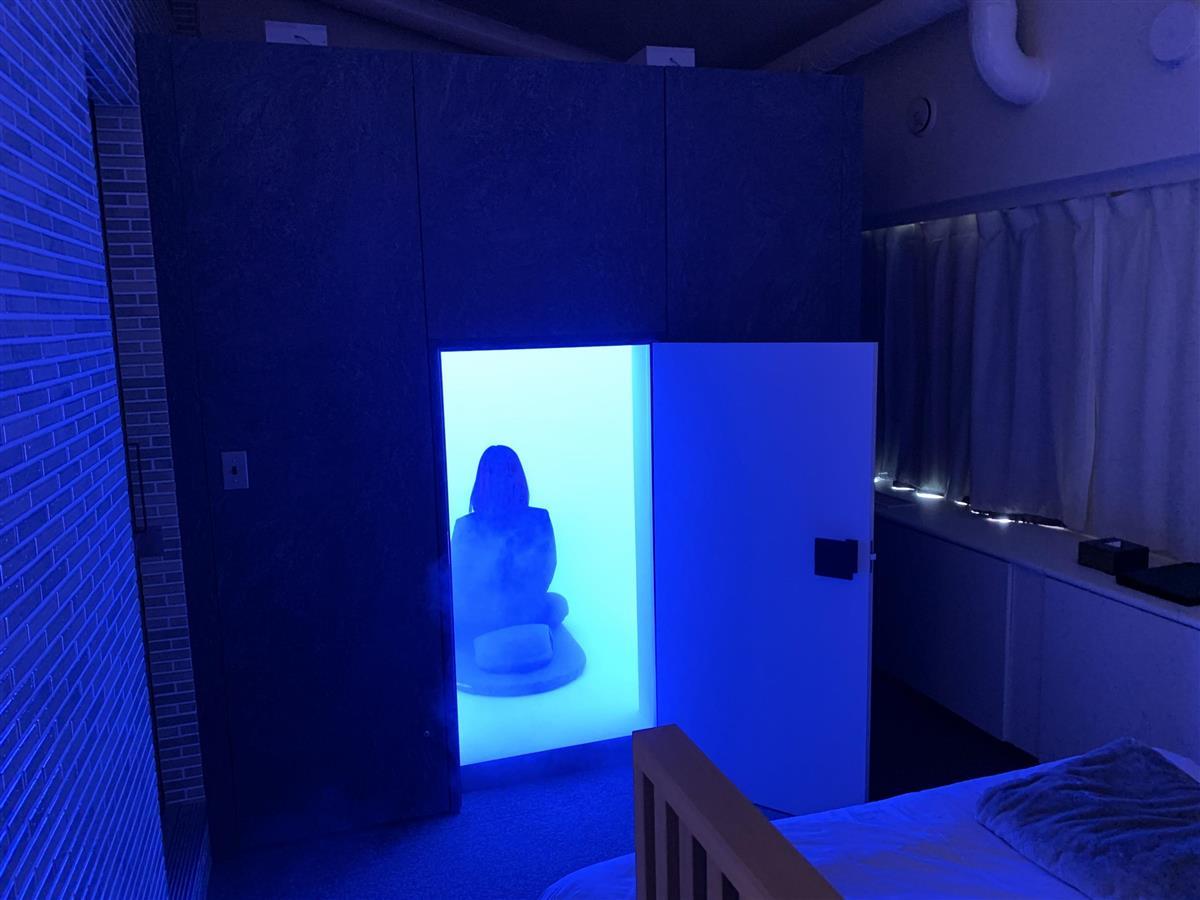 宿泊しながら「瞑想」を パナソニックが京都のホテルに体験ブース