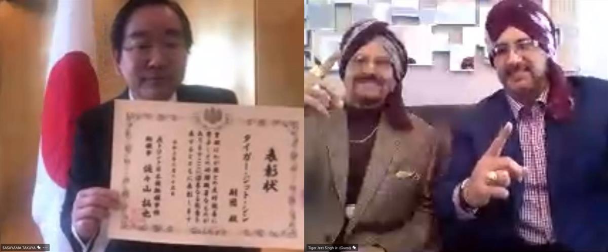 「インドの狂虎」ジェット・シンさん表彰 東日本大震災で支援活…