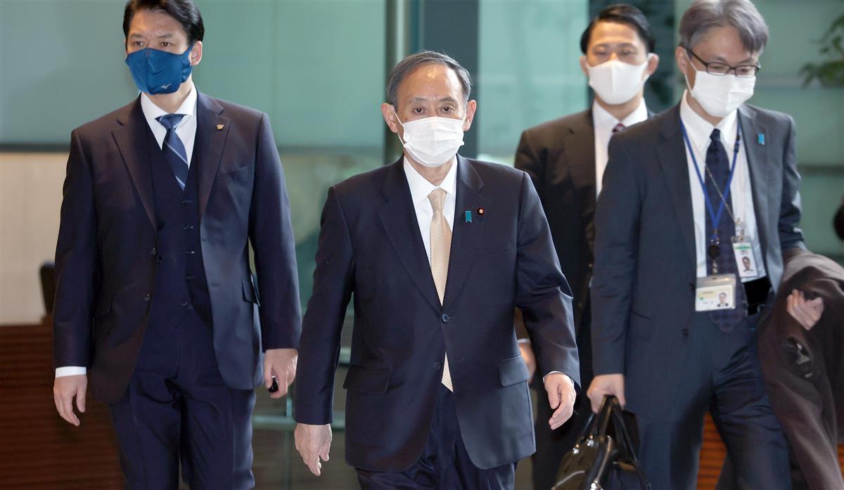 首相、6府県の2月末での緊急事態解除を表明