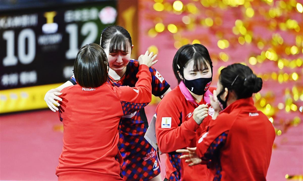 耐えた平野、早田決めた…日本生命、土壇場に底力で3連覇