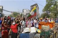 ミャンマーデモ、首都で140人以上拘束 国連大使は異例の国軍批判