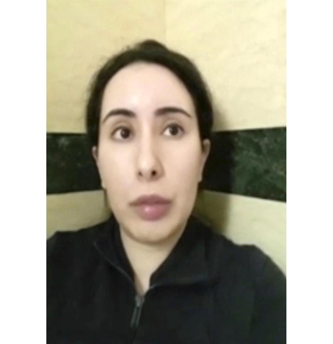 UAEドバイ首長国のラティファ王女(043FREELATIFA CAMPAIGN提供、AP=共同)