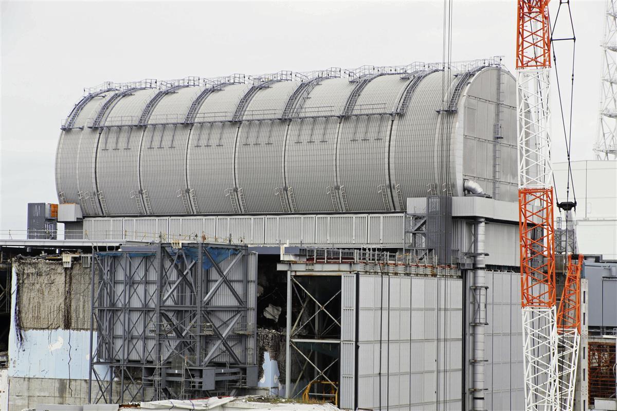 3号機プール燃料搬出完了 炉心溶融の3基で初 福島第1原発