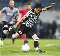 香川は後半途中出場 ギリシャ1部リーグ