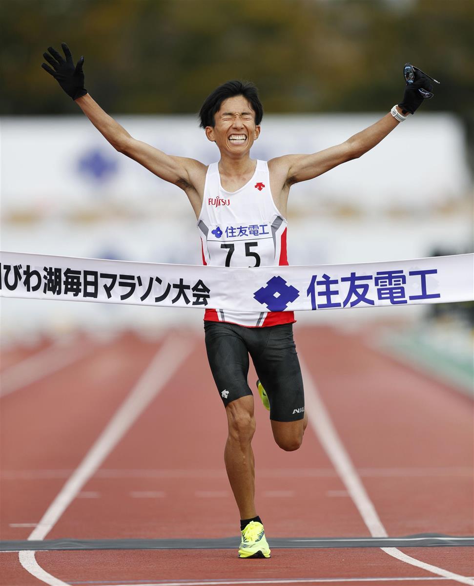 鈴木健吾が2時間4分56秒の日本新 びわ湖毎日マラソン