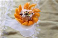【料理と酒】宮崎県のキンカン「たまたま」とクリームチーズ、ピスタチオのディップ