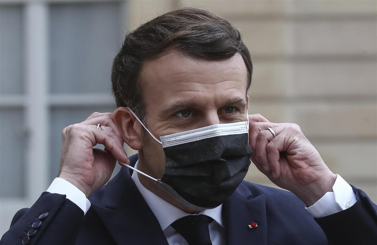 フランスのマクロン大統領=パリ(AP=共同)