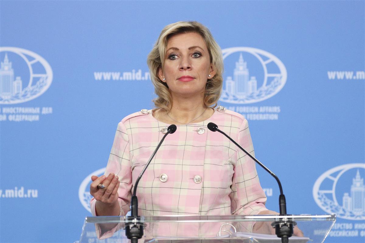 ロシア外務省のザハロワ情報局長(ロシア外務省提供、タス=共同)