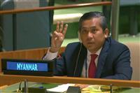 国軍「解任」のミャンマー大使、正統性訴え 国連、米も支持