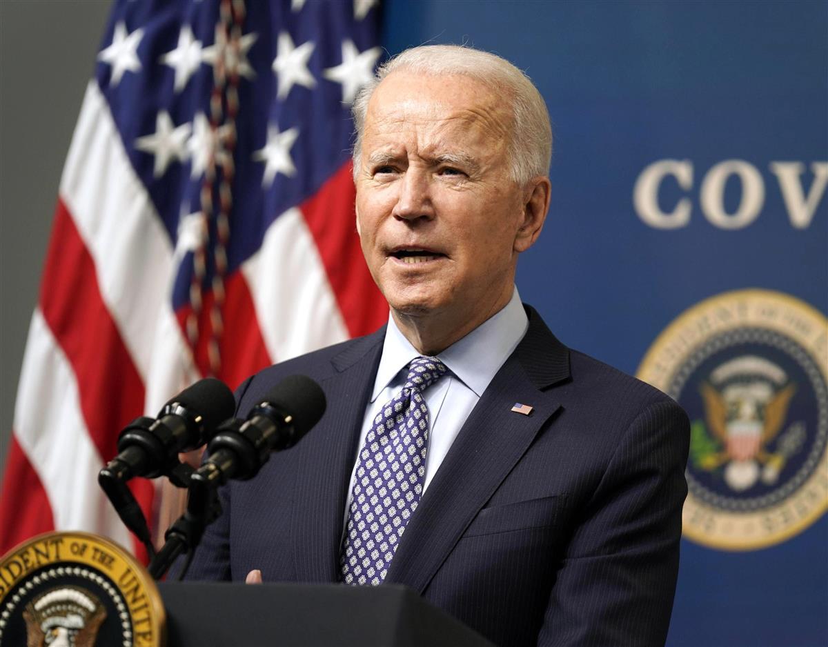 米ワシントンでの行事で発言するバイデン大統領(AP=共同)