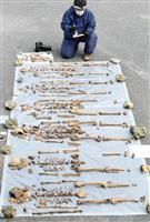 日本兵ら8人の遺骨発見 沖縄の洞窟、戦没者の仮埋葬地か