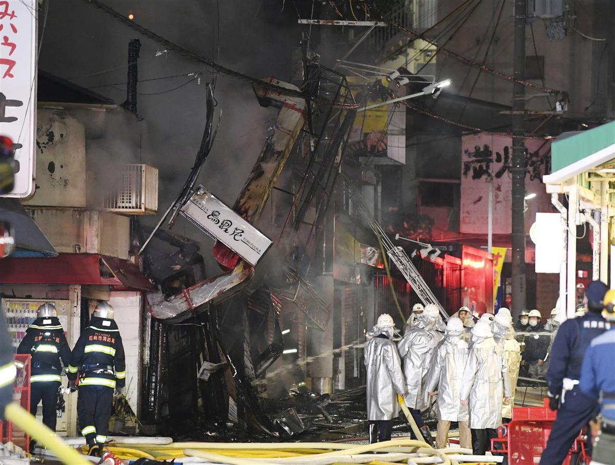 阪神沿線で長屋火災、運行に影響なし 兵庫・尼崎