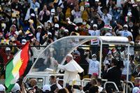 ローマ教皇、歴史的イラク訪問終了 テロ非難、多宗派の共生訴え