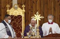 ローマ教皇、クルド自治区でミサ コロナ禍中、人数制限