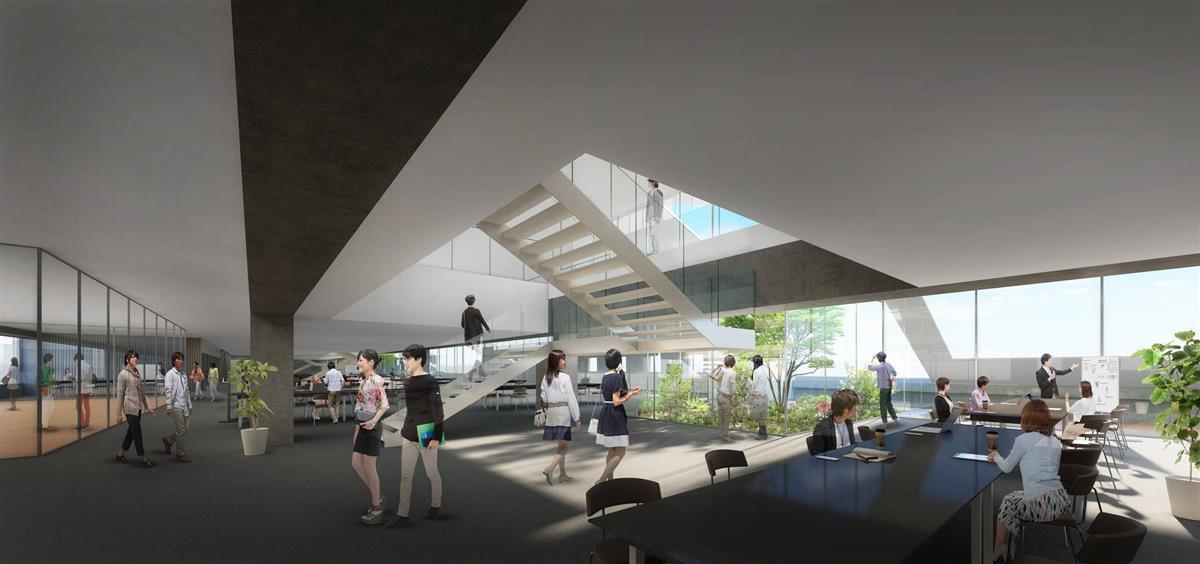 近畿大学東大阪キャンパスに建築予定の「情報学部棟」(近畿大学提供)
