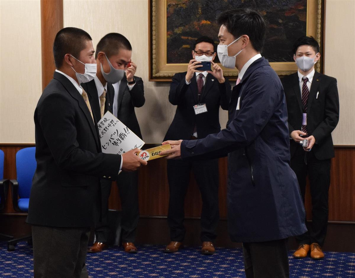 大阪桐蔭「一戦必勝」センバツ出場を知事に報告
