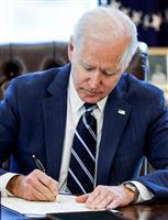 200兆円規模のコロナ危機対策が成立 バイデン米大統領署名