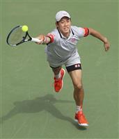 錦織、逆転で2回戦進出 男子テニスのドバイ選手権