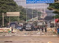 ミャンマー、デモ隊銃撃で39人死亡 犠牲者計100人超、ヤンゴンの一部に戒厳令