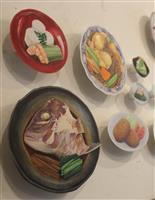 リアルな和食イラスト本 本物に迫る原画の立体展示
