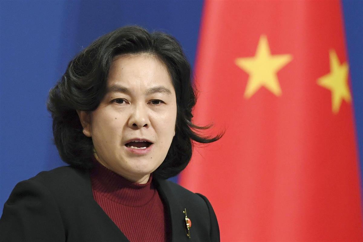 中国外務省の華春瑩報道官=北京(共同)