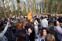 架空パーティーに数千人 ベルギー、拘束や負傷者も