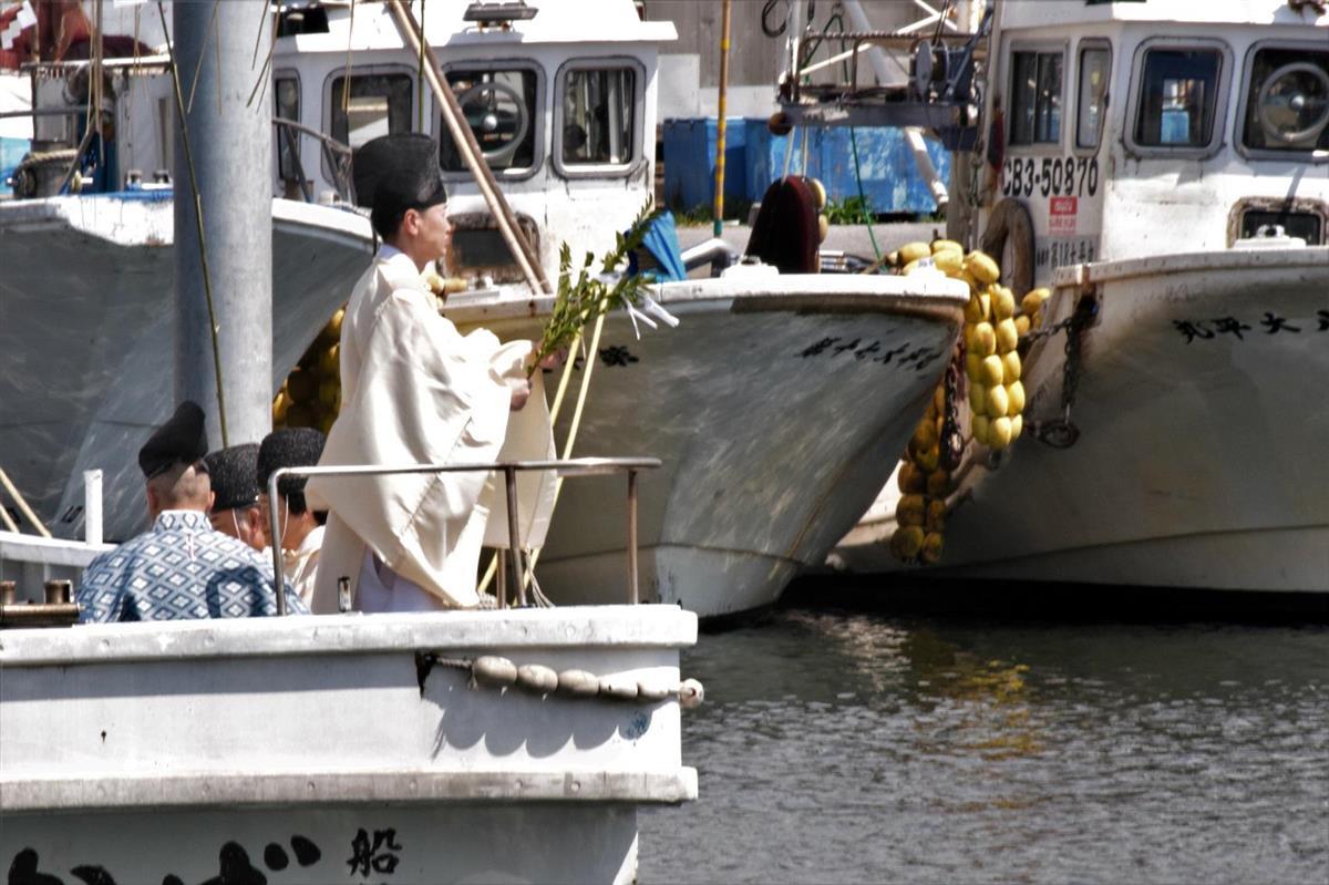 【千葉】海の安全と豊漁祈る 船橋で「水神祭」1