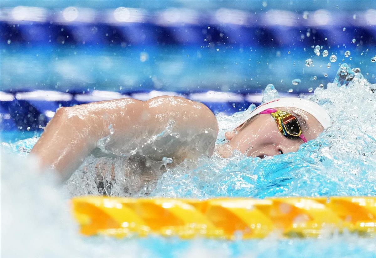 女子100メートル自由形予選 池江璃花子の泳ぎ=東京アクアティクスセンター(恵守乾撮影)