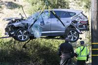 ウッズ選手事故は速度超過が原因  ブレーキとアクセル踏み間違えか