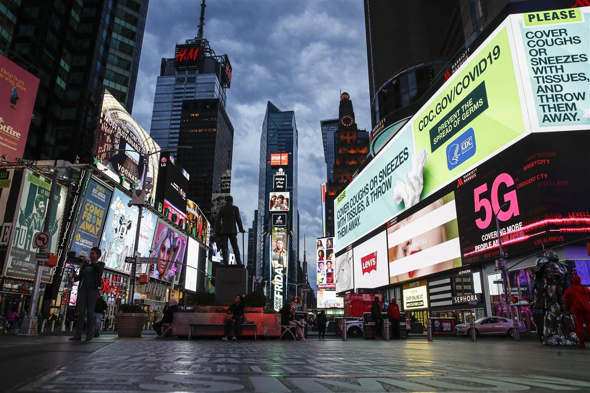 米NYタイムズスクエアで発砲 流れ弾で男性負傷