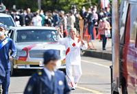 「郷里に恩返しを」 東京五輪金の早田卓次さん、和歌山でも聖火リレー