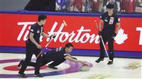日本は最終戦で世界1位に完敗、「手が出なかった」 カーリング男子世界選手権