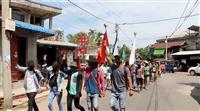 祝賀に向け弾圧強化も ミャンマー市民抵抗の構え