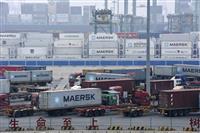 中国、3月の輸出は30%増 コロナ禍の反動と米国向け堅調が牽引