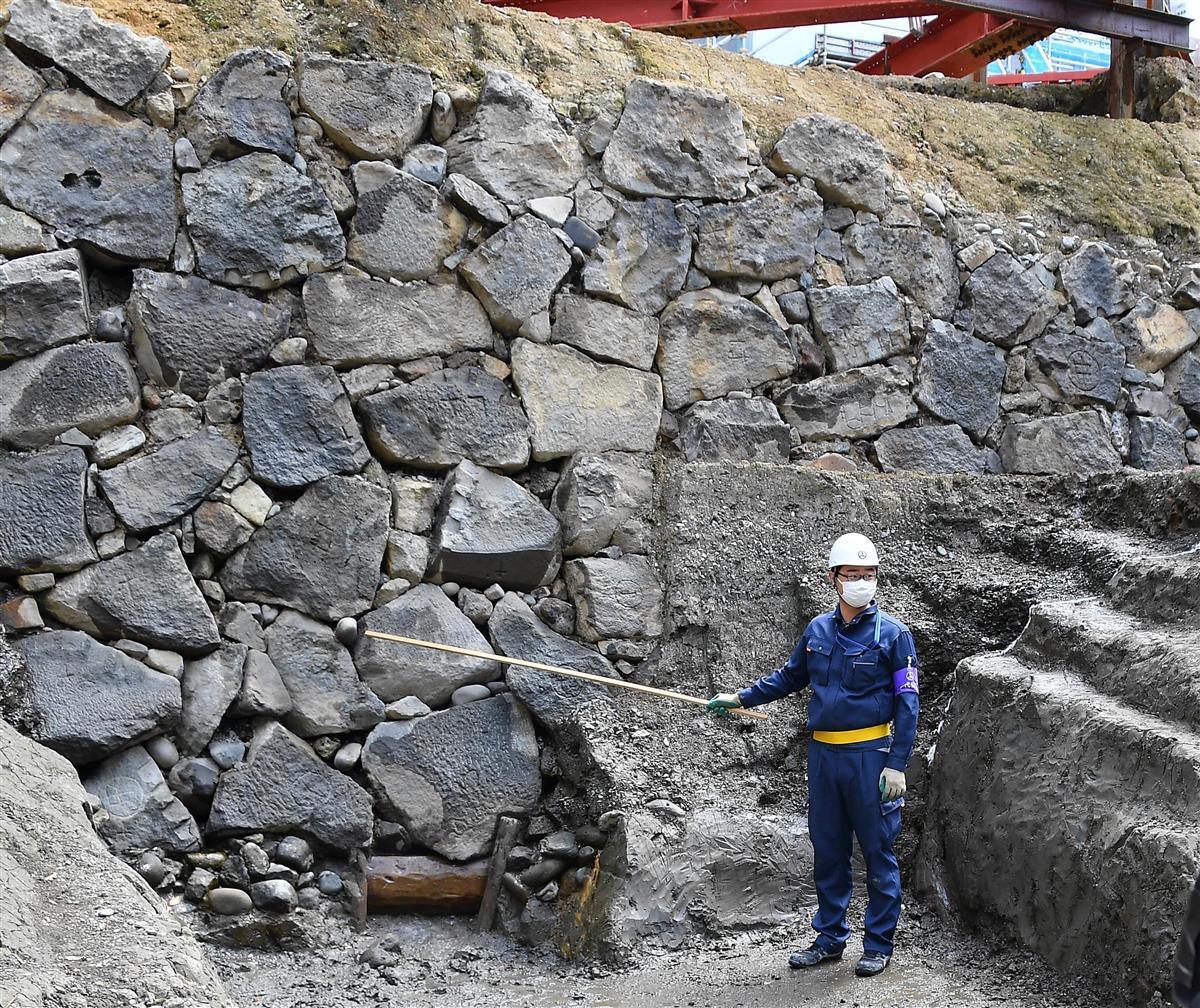 400年前築造か 皇居で江戸城の石垣出土 当時の姿そのままに - 産経 ...