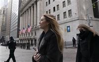 NY株、3万4千ドル突破 305ドル高、米景気期待