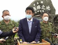 岸防衛相、南西防衛強化に意欲 与那国視察「台湾近い」
