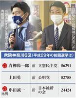 【闘う】衆院神奈川6区 25年ぶりに自民が候補擁立 首相に近い横浜市議 立民はカジノ批…