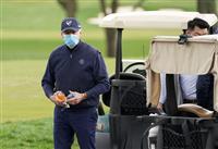 バイデン氏、初のゴルフ 前日には松山選手たたえる