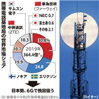 6G覇権争い 日本企業も対応加速 NTT、政府と一体で標準化狙う