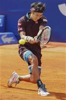 錦織、赤土初戦で苦戦 男子テニスのバルセロナ・オープン