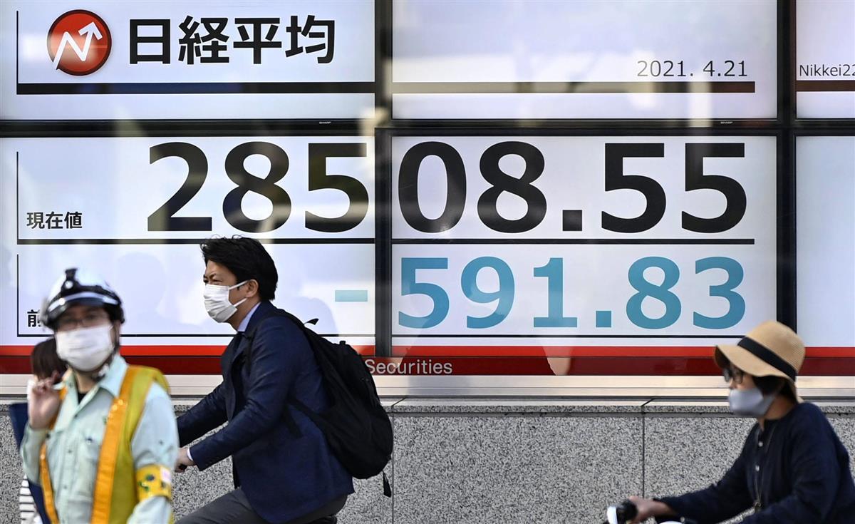 緊急宣言で4~6月期の個人消費は落ち込み拡大へ 株価2万9000円割れ