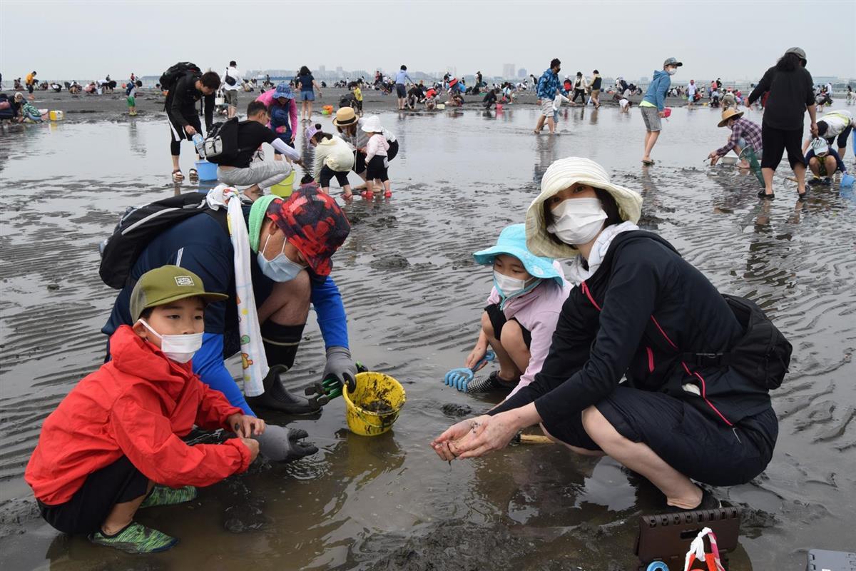 【千葉」潮干狩りスタート。身近な春の干潟人気2
