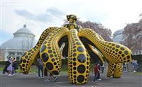 草間さん作品、NYに彩り 植物園で展覧会
