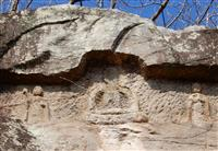 【石仏は語る】伊勢参りの旅人見守る 木津の磨崖仏 神戸市西区