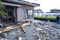 静岡突風で3棟全壊 建物被害は計92棟に